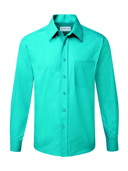 male long sleeve shirt in teal