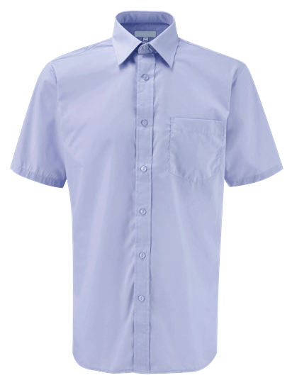 male short sleeve shirt in lilac