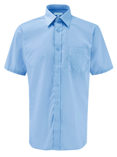 light blue male short sleeve shirt
