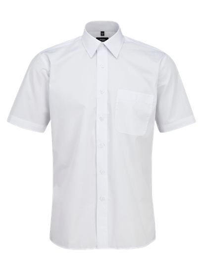male short sleeve shirt in super white
