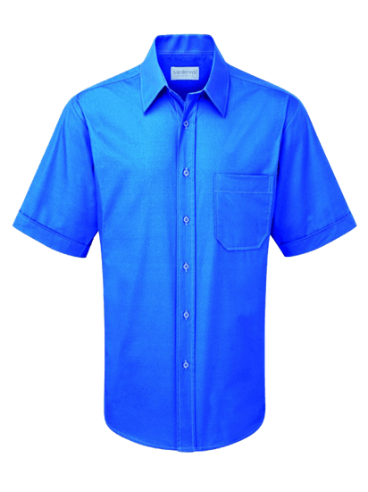 azure male short sleeve shirt
