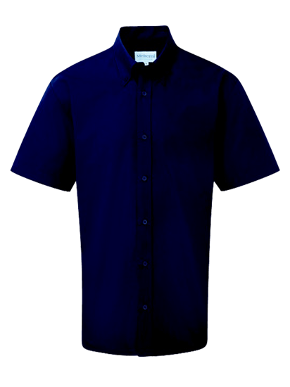 navy male short sleeve shirt