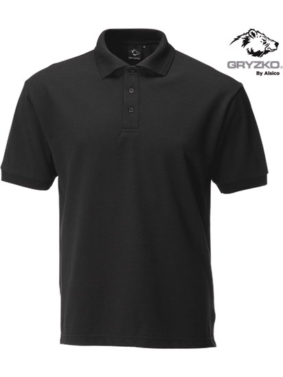 performance button polo in black