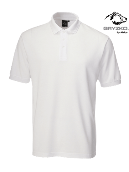 super white performance button polo