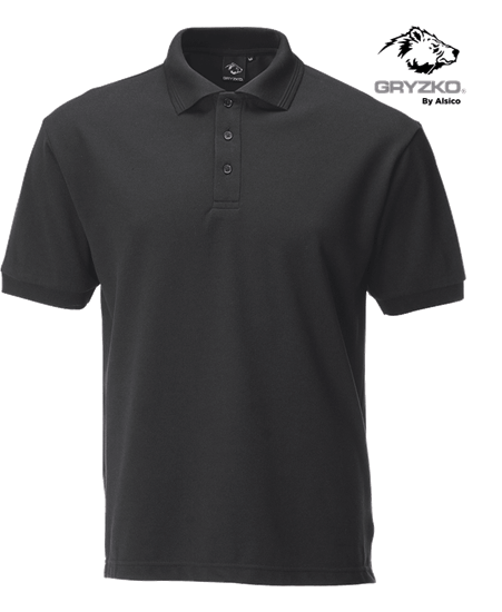 charcoal performance button polo