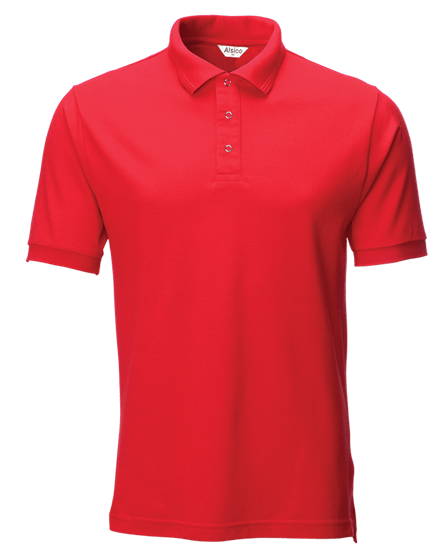 performance stud polo in red