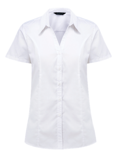 plain polycotton blouse in super white