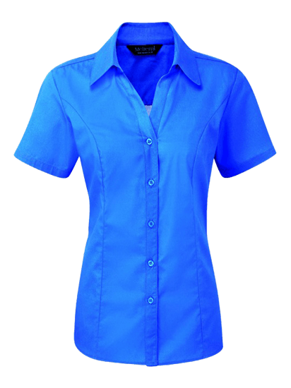 azure plain polycotton blouse