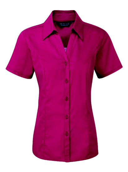 plain polycotton blouse in smokeberry