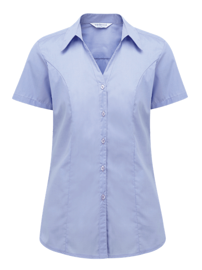 lilac plain polycotton blouse