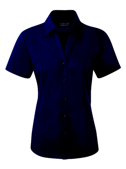 navy plain polycotton blouse