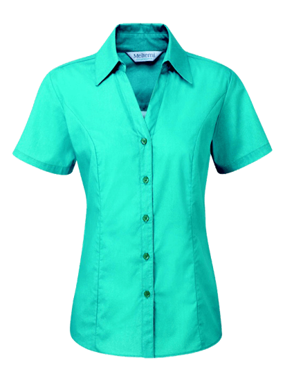 teal plain polycotton blouse