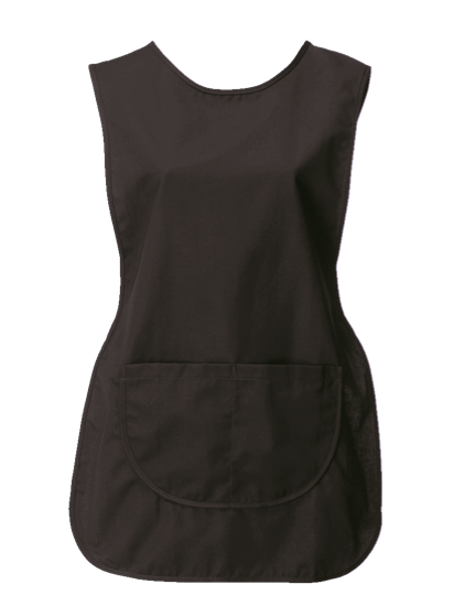 tabard with pocket in black