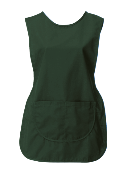 bottle green tabard with pocket