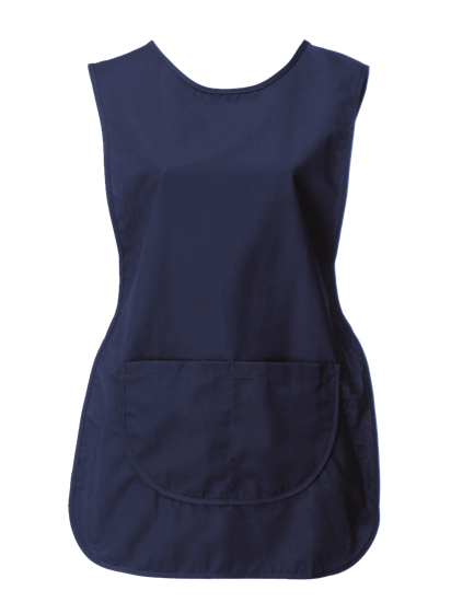tabard with pocket in navy