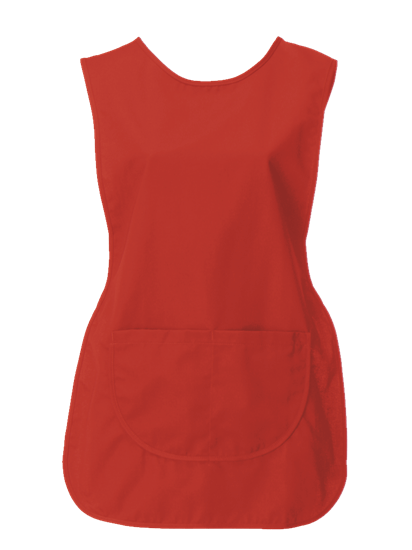 tabard with pocket in red