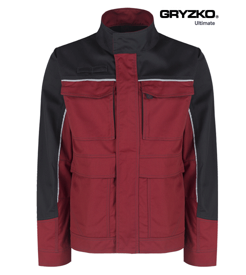 fire engine red and black ultimate gryzko jacket