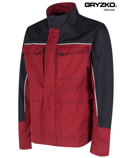 fire engine red and black ultimate gryzko jacket facing right angle
