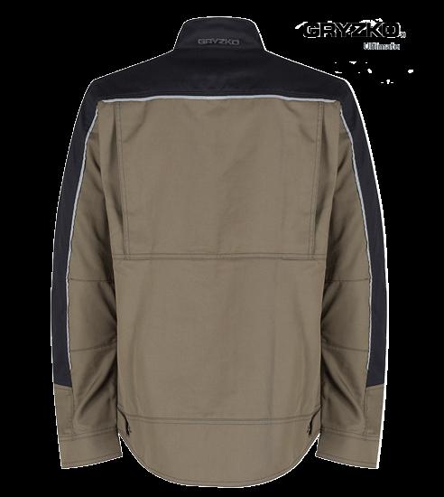 back of ultimate gryzko jacket in oak brown and black