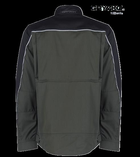 back of racing green and black ultimate gryzko jacket