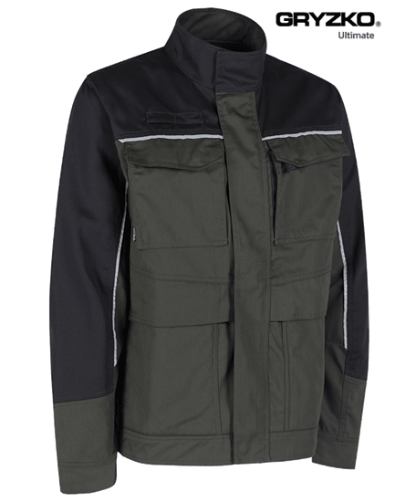 side angle of racing green and black ultimate gryzko jacket