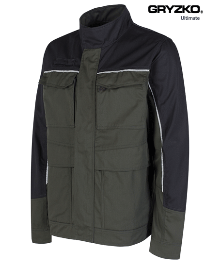 racing green and black ultimate gryzko jacket facing the right