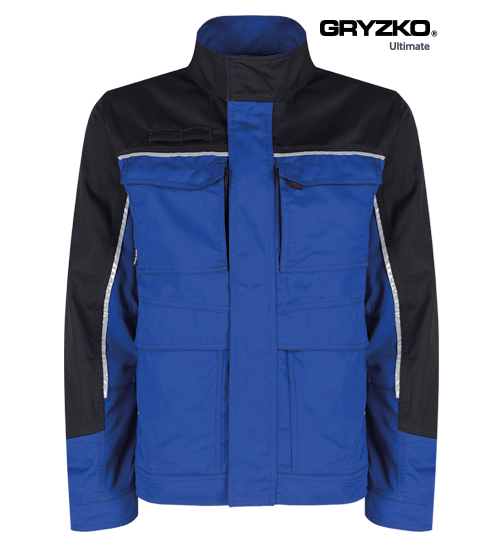 ultimate gryzko jacket in royal blue and black