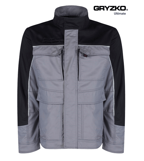 ultimate gryzko jacket in graphite grey black