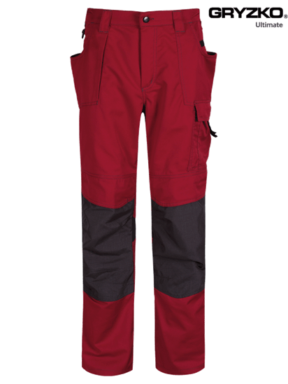 fire engine red and black ultimate gryzko trouser