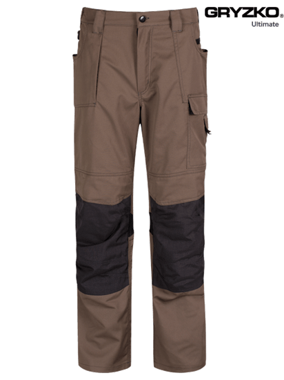 ultimate gryzko trouser in oak brown and black