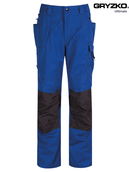 ultimate gryzko trouser in royal blue and black