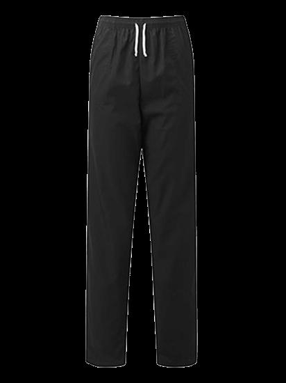 black unisex scrub trouser
