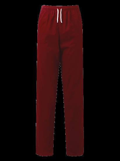 unisex scrub trouser in burgundy