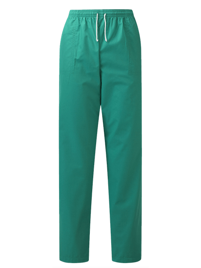 unisex scrub trouser in jade