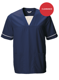 Picture of Unisex Medical Scrub Top  - Navy