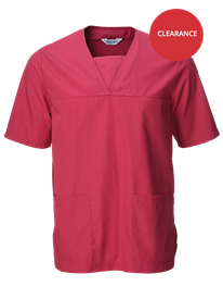 Picture of Unisex Scrub Top - Raspberry