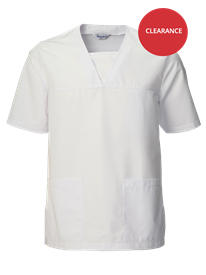 Picture of Unisex Scrub Top - White