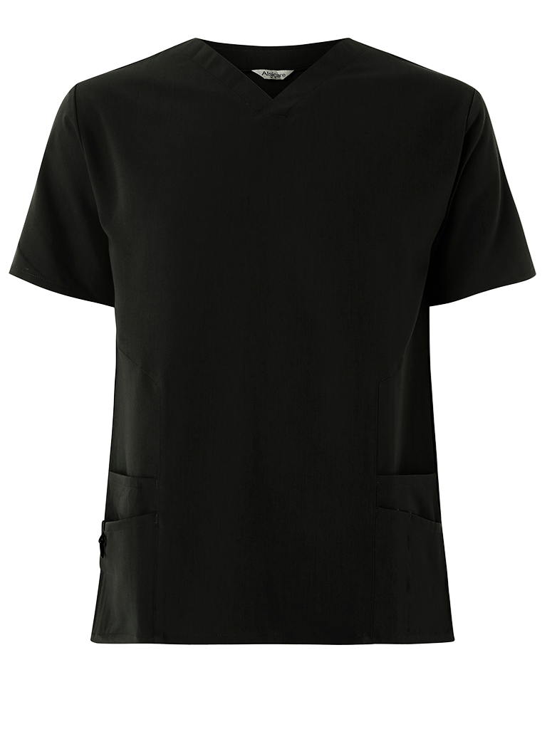 Picture of 4-Way Stretch Male Scrub Tunic - Black