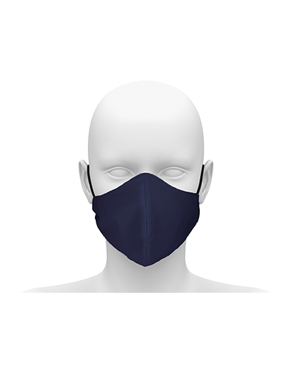 Picture of Reusable Face Mask with Cord Tie - Navy