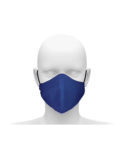 Picture of Reusable Face Mask with Cord Tie - Royal Blue