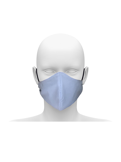 Picture of Reusable Face Mask with Cord Tie - Sky Blue