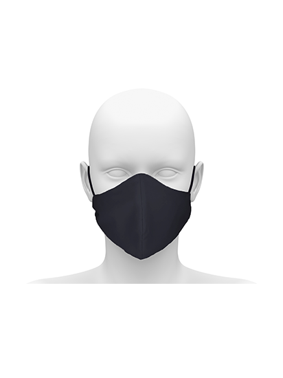 Picture of Reusable Face Mask with Cord Tie - Black