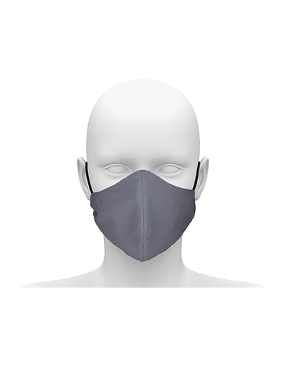 Picture of Reusable Face Mask with Cord Tie - Pale Grey
