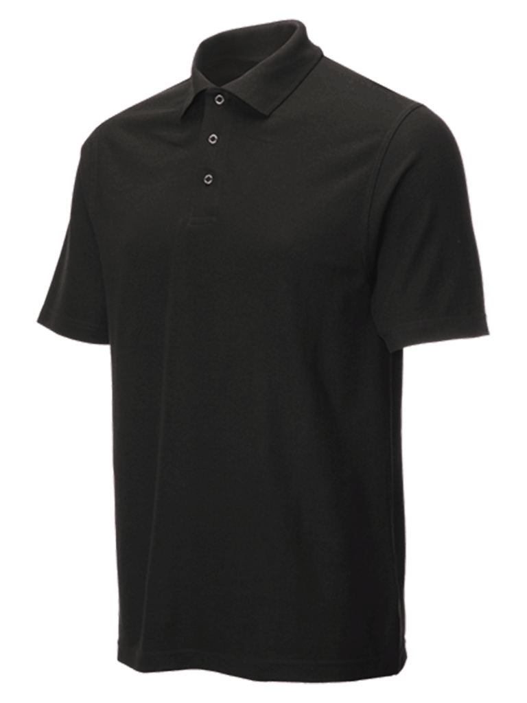 performance stud polo in black