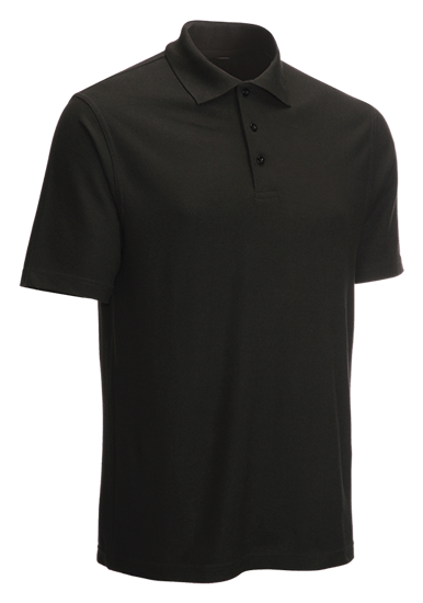 classic polo shirt black side angle
