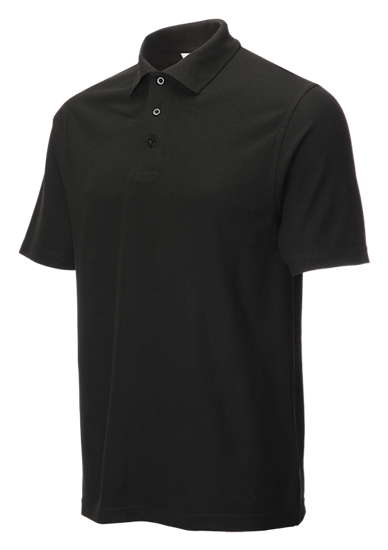 left facing classic polo shirt black