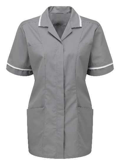 Picture of Lightweight Female Square Collar Tunic - Hospital Grey/White