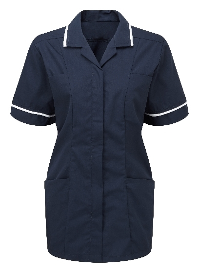 Picture of Lightweight Female Square Collar Tunic - Navy/White