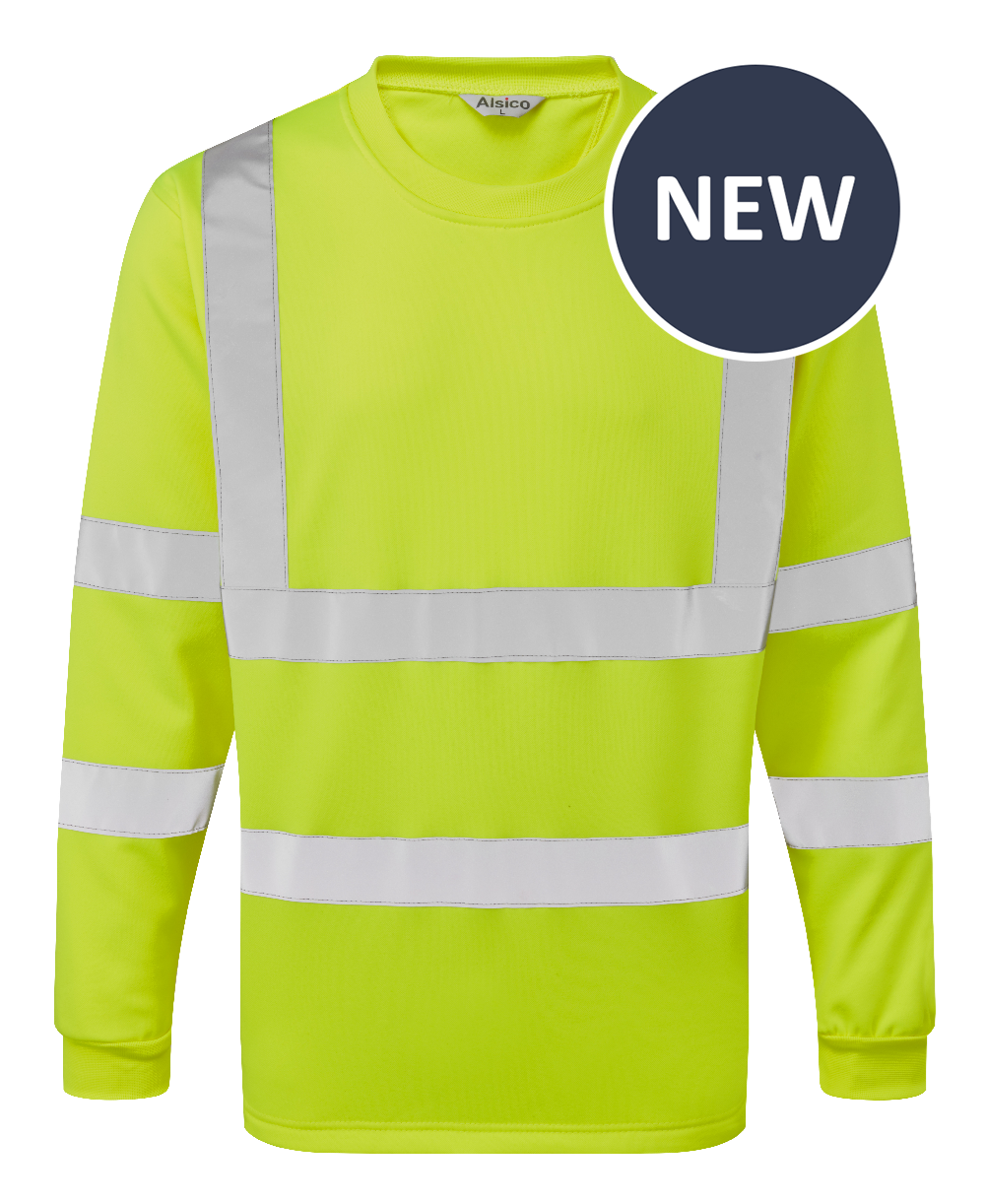 Picture of Industrial Launderable Hi-Visibility Sweatshirt - Yellow