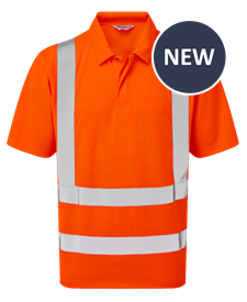 Picture of Industrial Launderable Hi-Visibility Short Sleeve Poloshirt